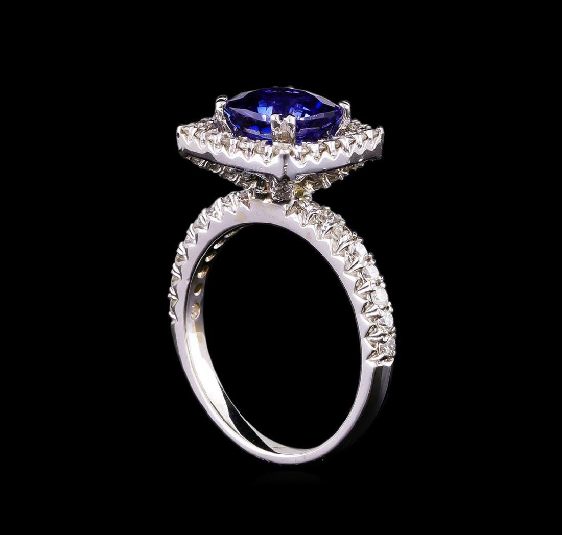 14KT White Gold 3.03 ctw Sapphire and Diamond Ring - 4