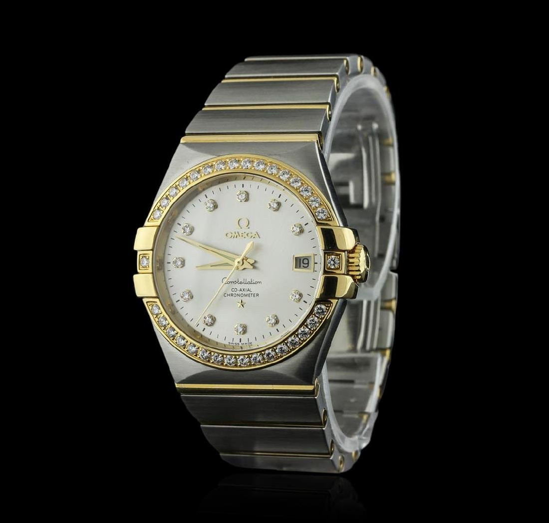 Omega 18KT Two-Tone 1.02 ctw Constellation Mens Watch - 2