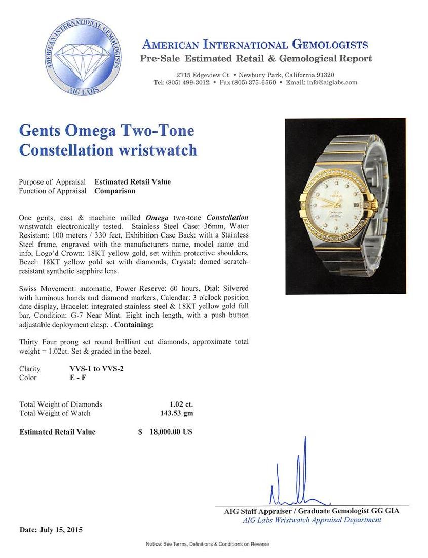 Omega 18KT Two-Tone 1.02 ctw Constellation Mens Watch - 7