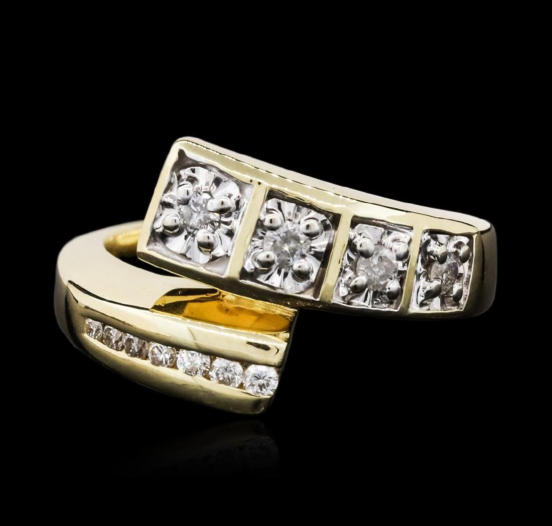 14KT Two-Tone Gold 0.25 ctw Diamond Ring - 2