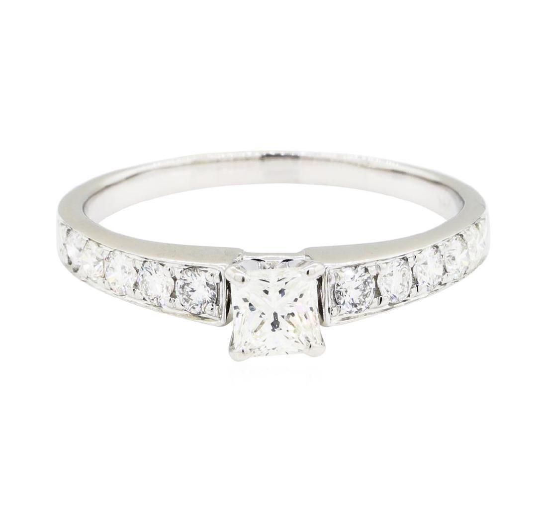 1.00 ctw Diamond Ring - 14KT White Gold - 2