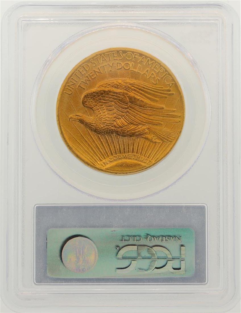 1911-D $20 St. Gaudens Double Eagle Gold Coin PCGS MS63 - 2
