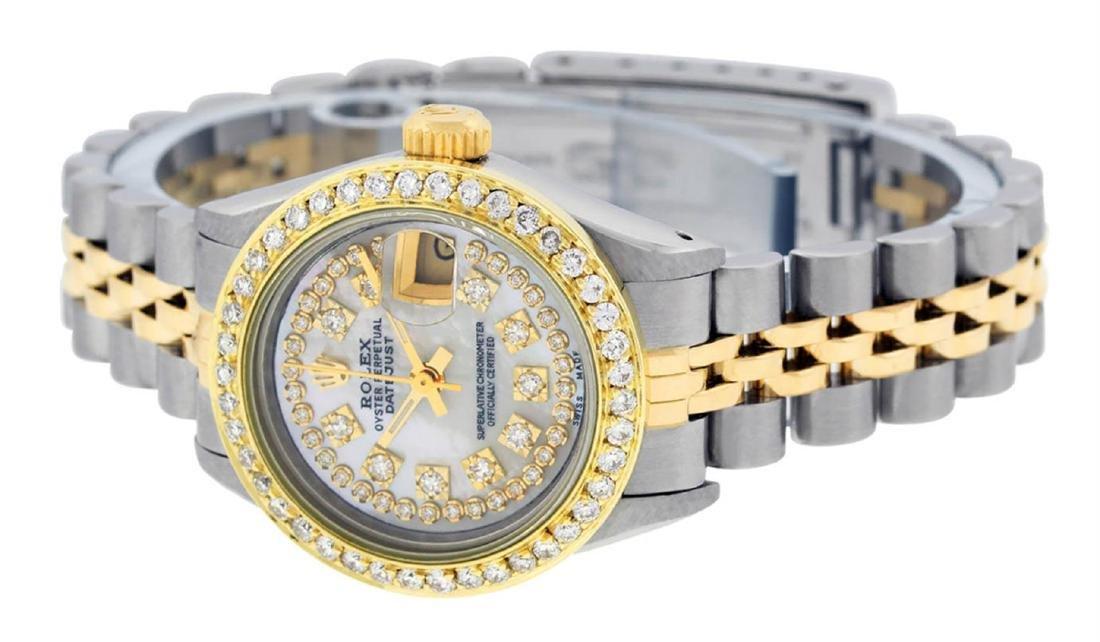 Rolex Ladies 2 Tone Mother Of Pearl String Diamond - 7