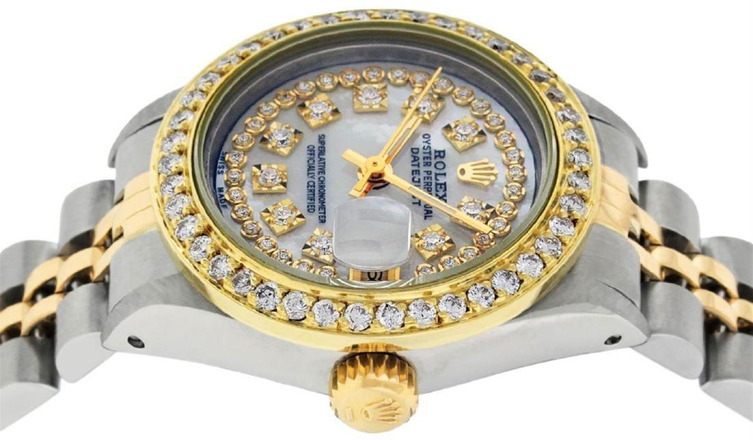 Rolex Ladies 2 Tone Mother Of Pearl String Diamond - 9