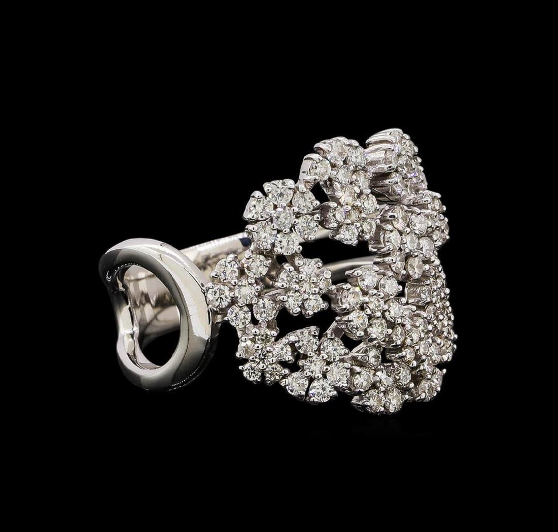 14KT White Gold 0.86 ctw Diamond Ring
