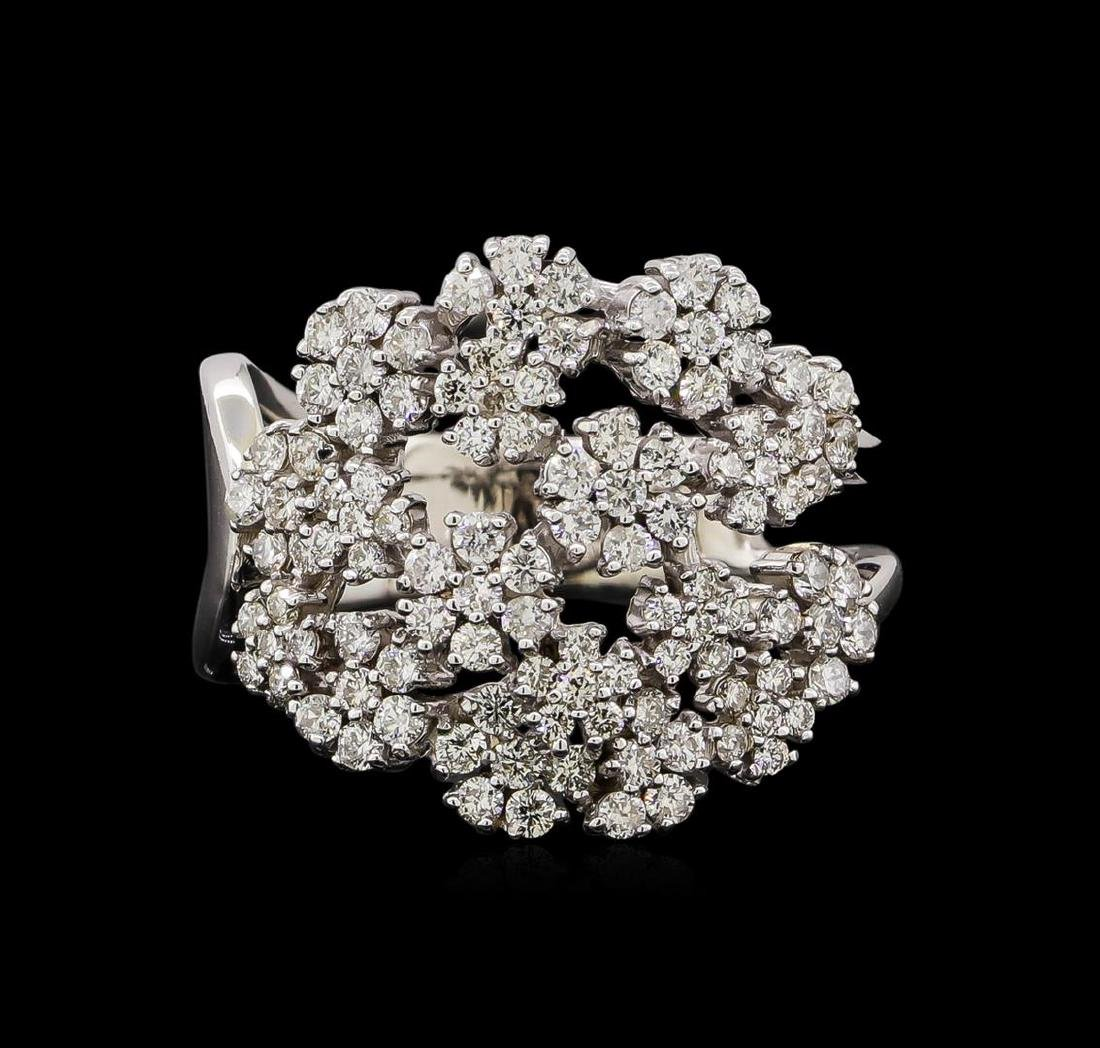 14KT White Gold 0.86 ctw Diamond Ring - 2