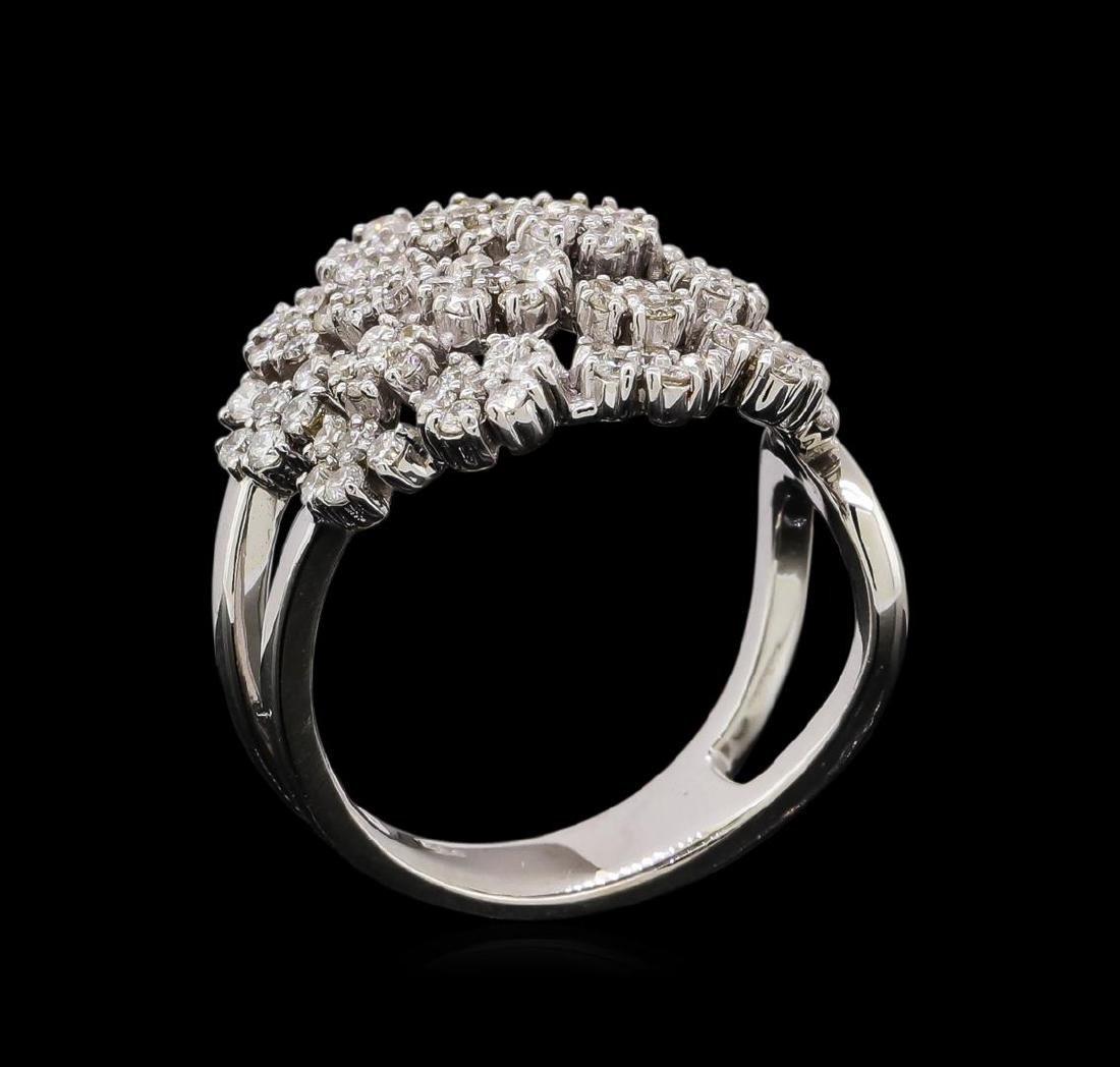 14KT White Gold 0.86 ctw Diamond Ring - 4