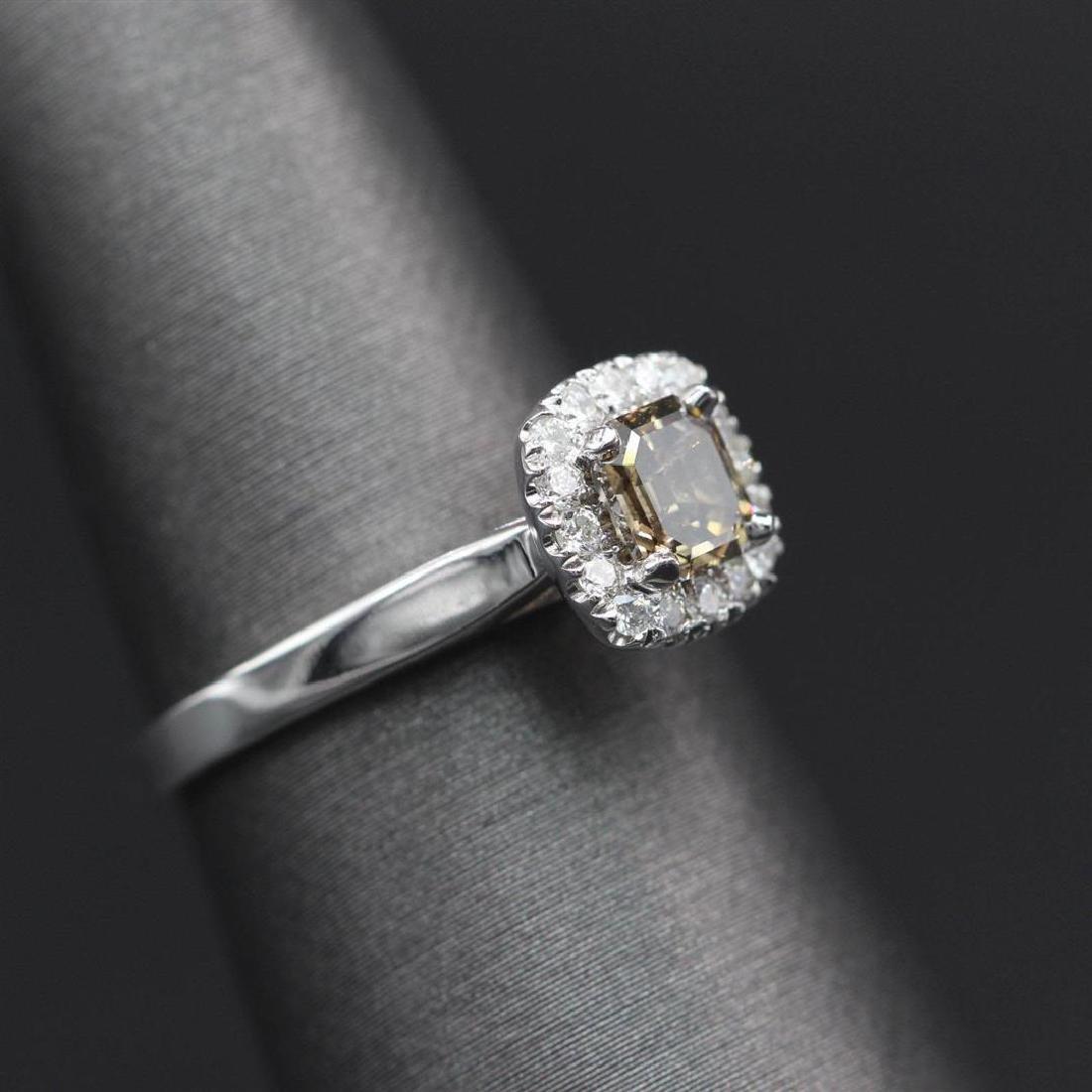 0.80 ctw Diamond Ring - 14KT White Gold - 3