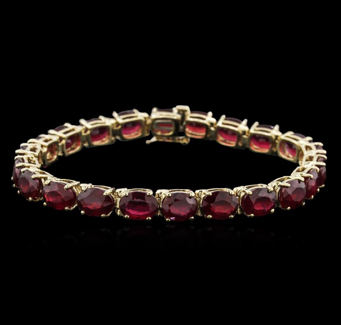 14KT Yellow Gold 33.96 ctw Ruby Bracelet