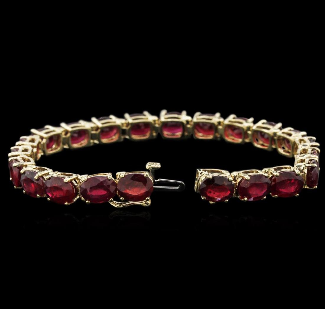 14KT Yellow Gold 33.96 ctw Ruby Bracelet - 3
