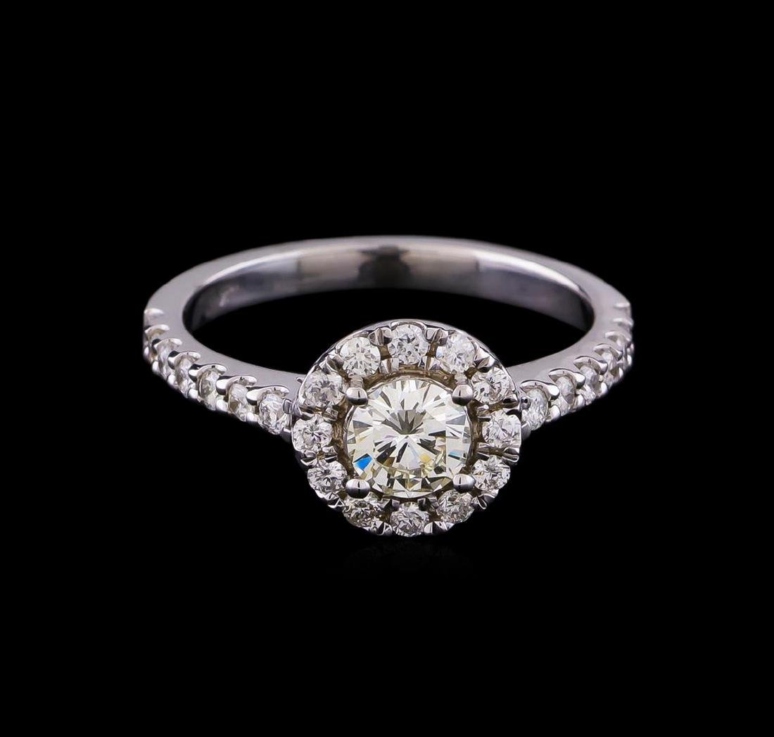 0.87 ctw Diamond Ring - 14KT White Gold - 2
