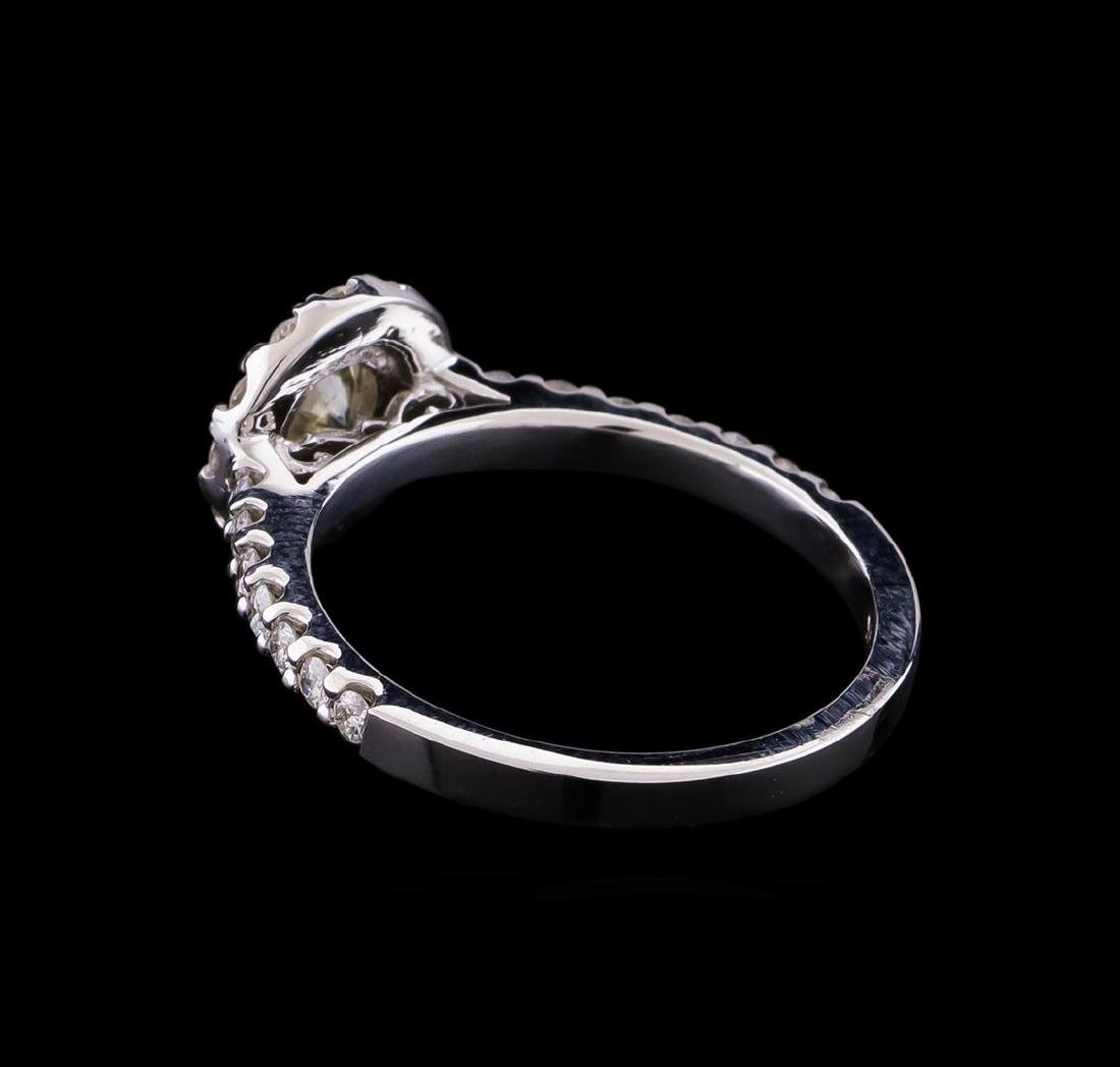 0.87 ctw Diamond Ring - 14KT White Gold - 3
