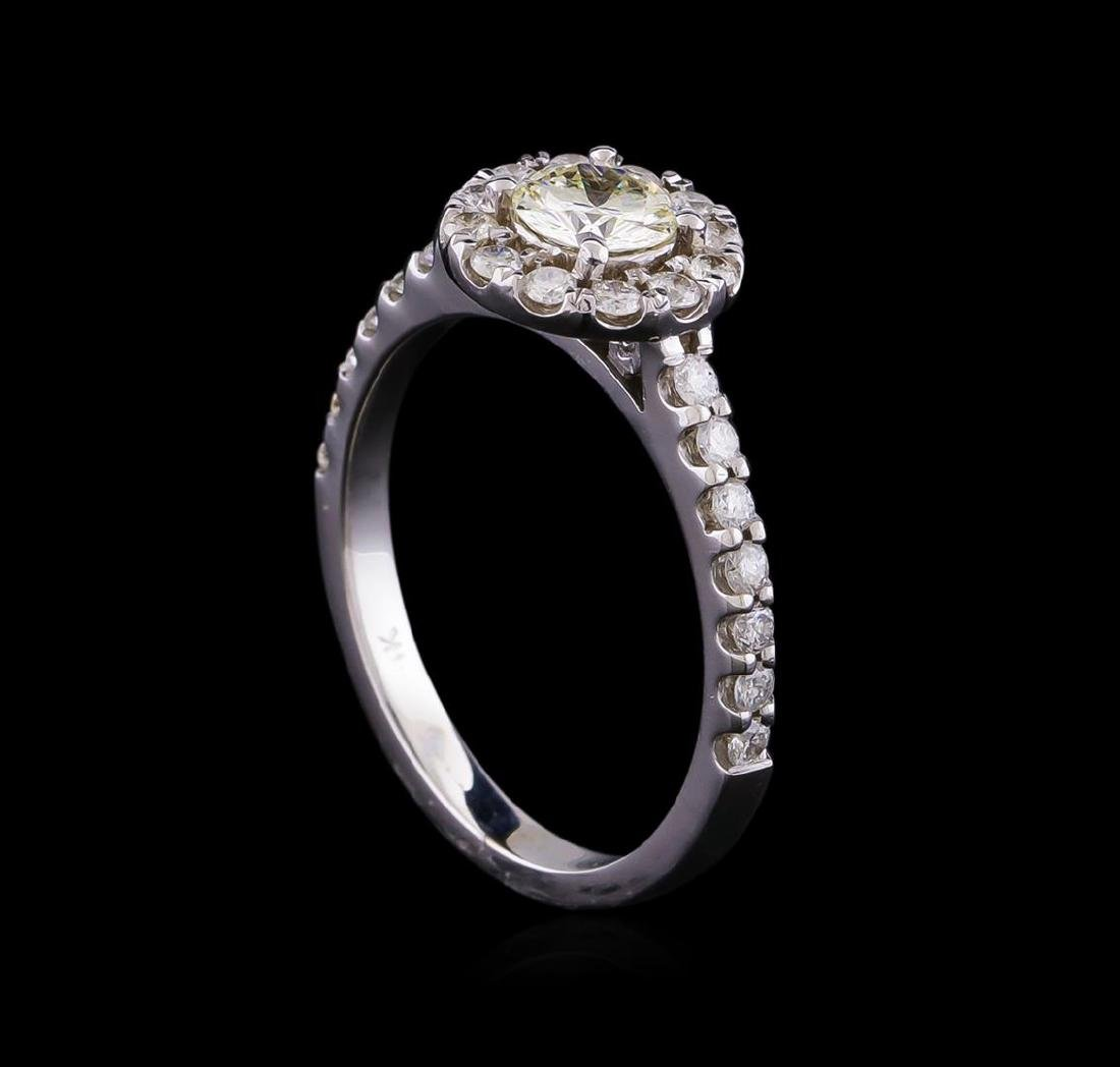 0.87 ctw Diamond Ring - 14KT White Gold - 4