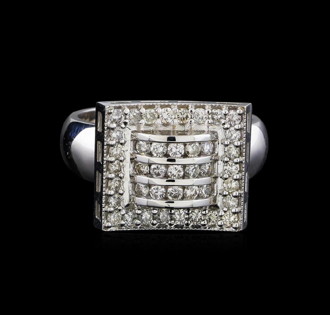 0.72 ctw Diamond Ring - 14KT White Gold - 2