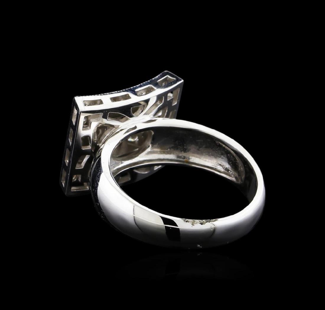 0.72 ctw Diamond Ring - 14KT White Gold - 3