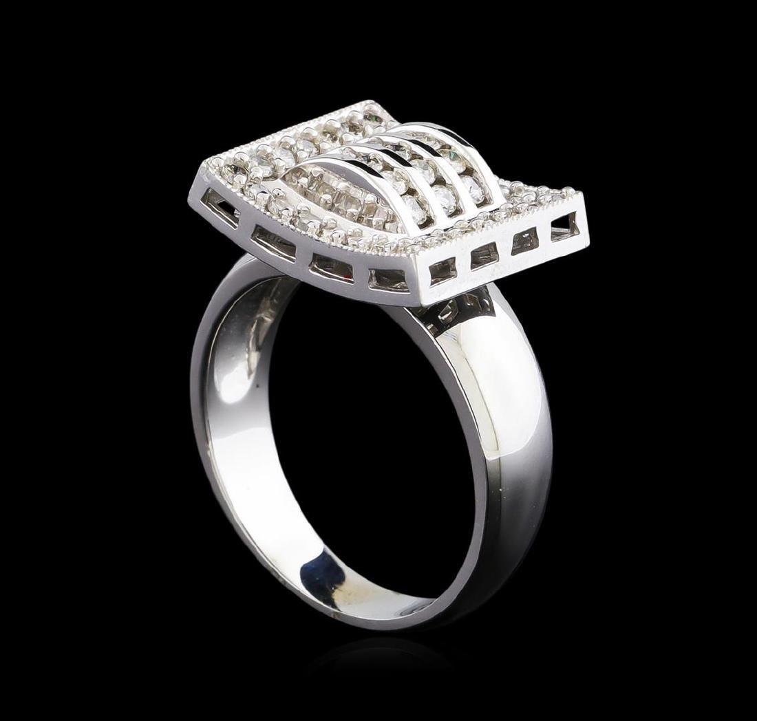 0.72 ctw Diamond Ring - 14KT White Gold - 4