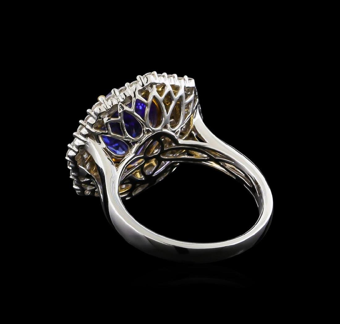14KT Two-Tone Gold 2.63 ctw Tanzanite and Diamond Ring - 3