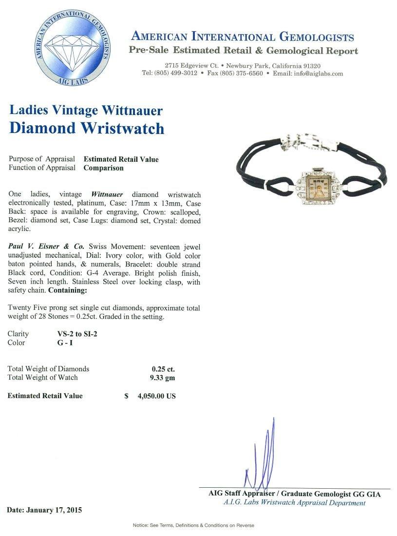 Vintage Wittnauer Diamond Ladies Watch - 4