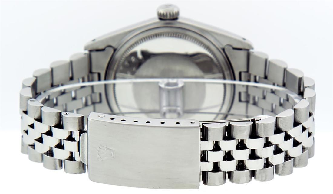 Rolex Mens Stainless Steel Purple Diamond 36MM Datejust - 4
