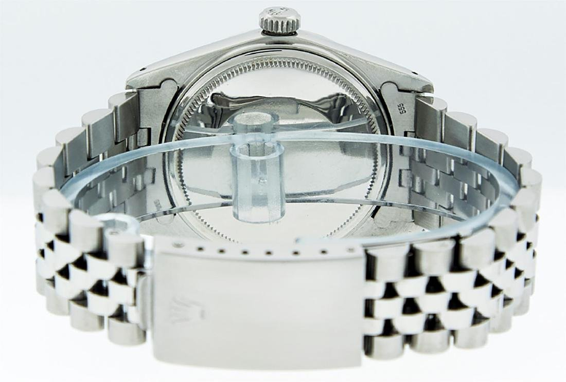 Rolex Mens Stainless Steel Purple Diamond 36MM Datejust - 5