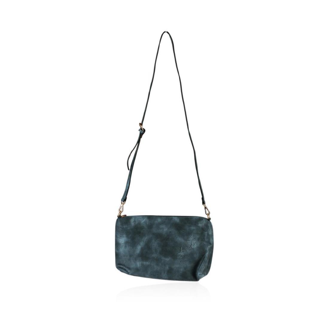 Charcoal Blue Oversized Handbag - 2