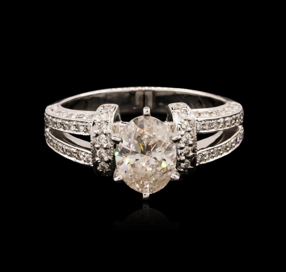 14KT White Gold 1.64 ctw Diamond Ring - 2