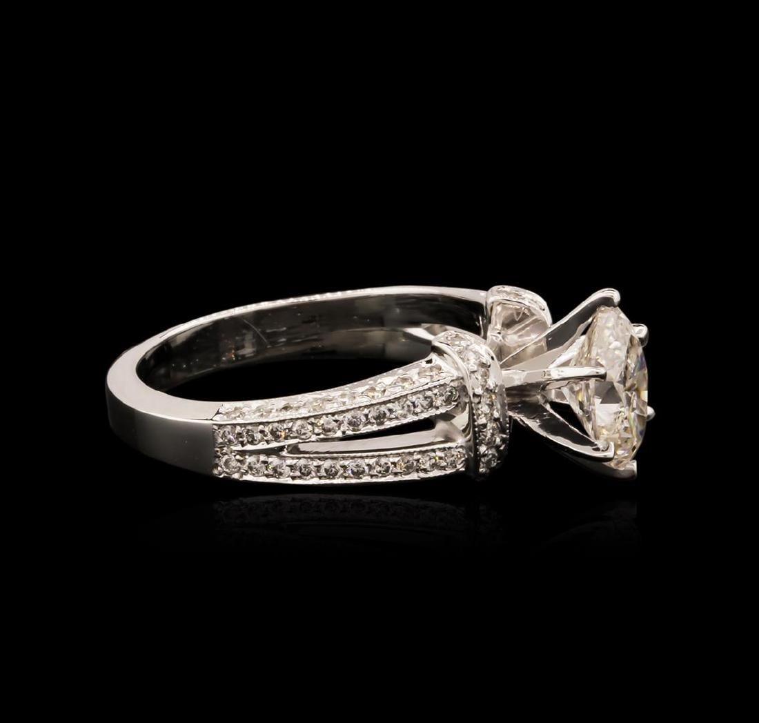 14KT White Gold 1.64 ctw Diamond Ring - 3