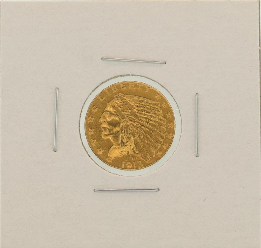 1913 $2.5 Indian Head Quarter Eagle Gold Coin