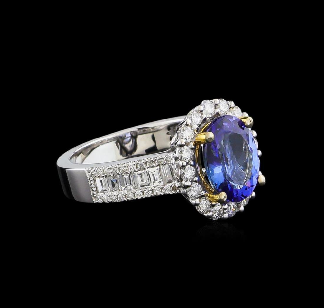 14KT Two-Tone Gold 1.97 ctw Tanzanite and Diamond Ring