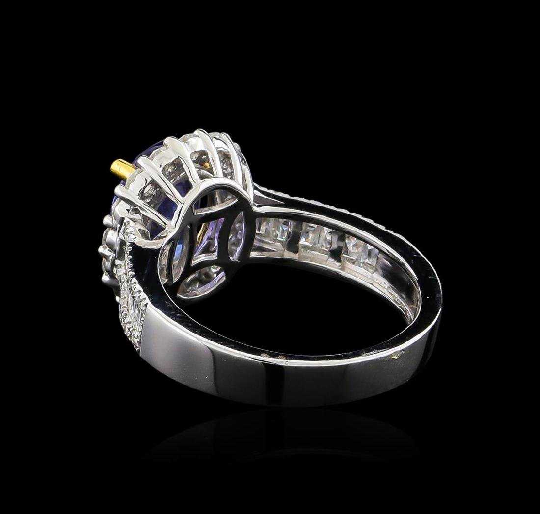 14KT Two-Tone Gold 1.97 ctw Tanzanite and Diamond Ring - 3