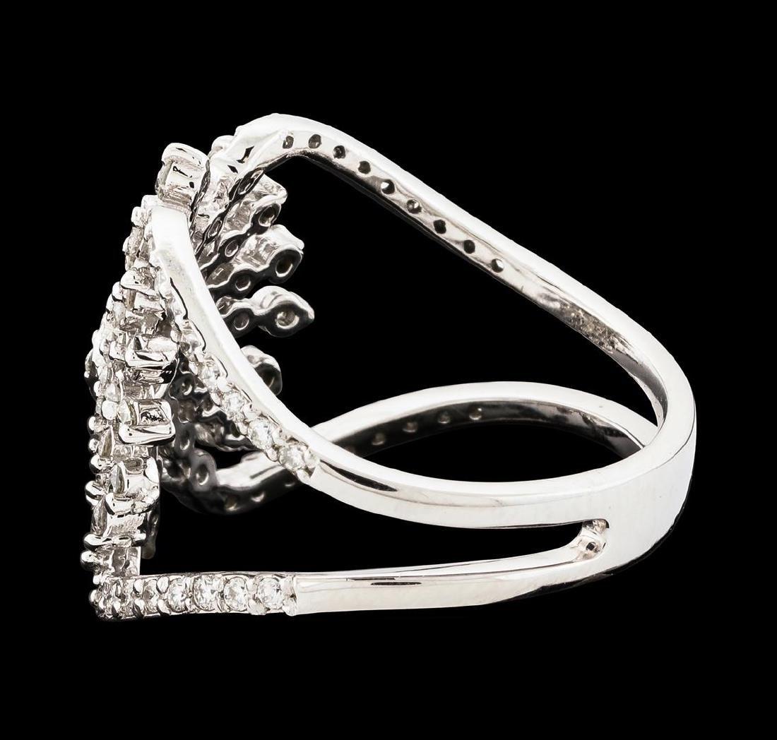 0.88 ctw Diamond Ring - 14KT White Gold - 3