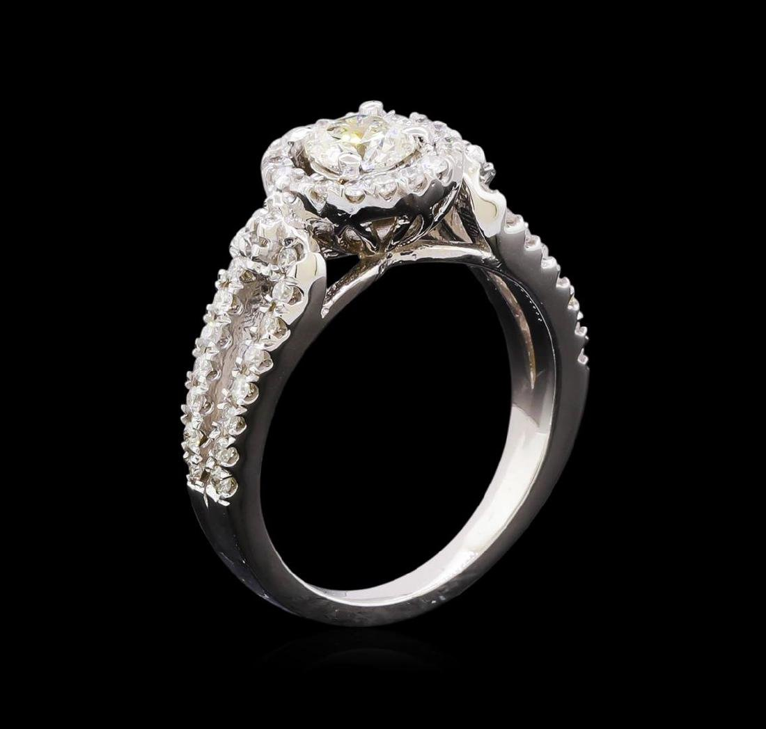 1.04 ctw Diamond Ring - 14KT White Gold - 4