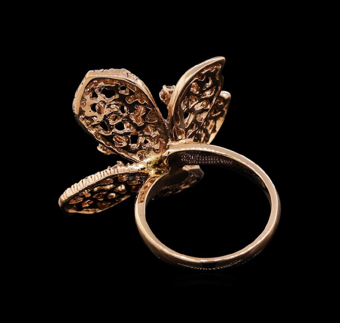 14KT Rose Gold 1.29 ctw Diamond Ring - 3