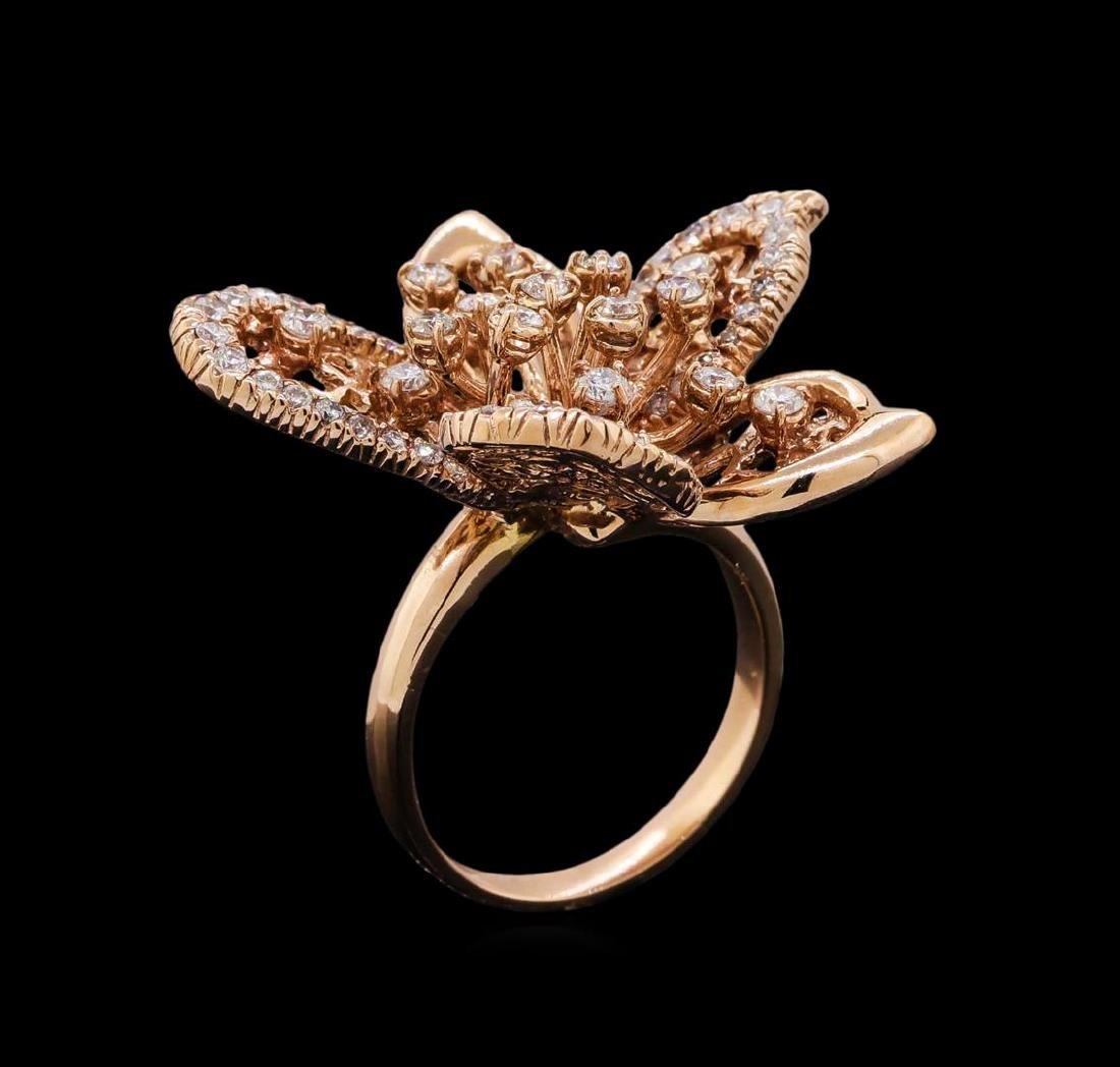 14KT Rose Gold 1.29 ctw Diamond Ring - 4