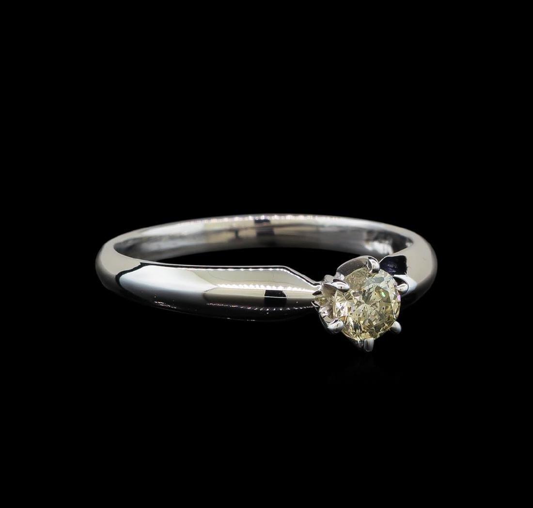 14KT White Gold 0.33 ctw Round Cut Diamond Solitaire