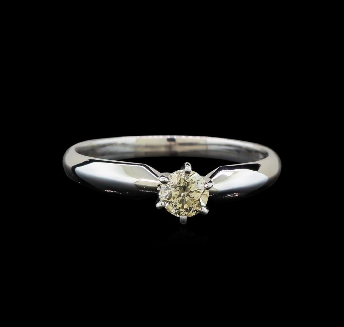14KT White Gold 0.33 ctw Round Cut Diamond Solitaire - 2