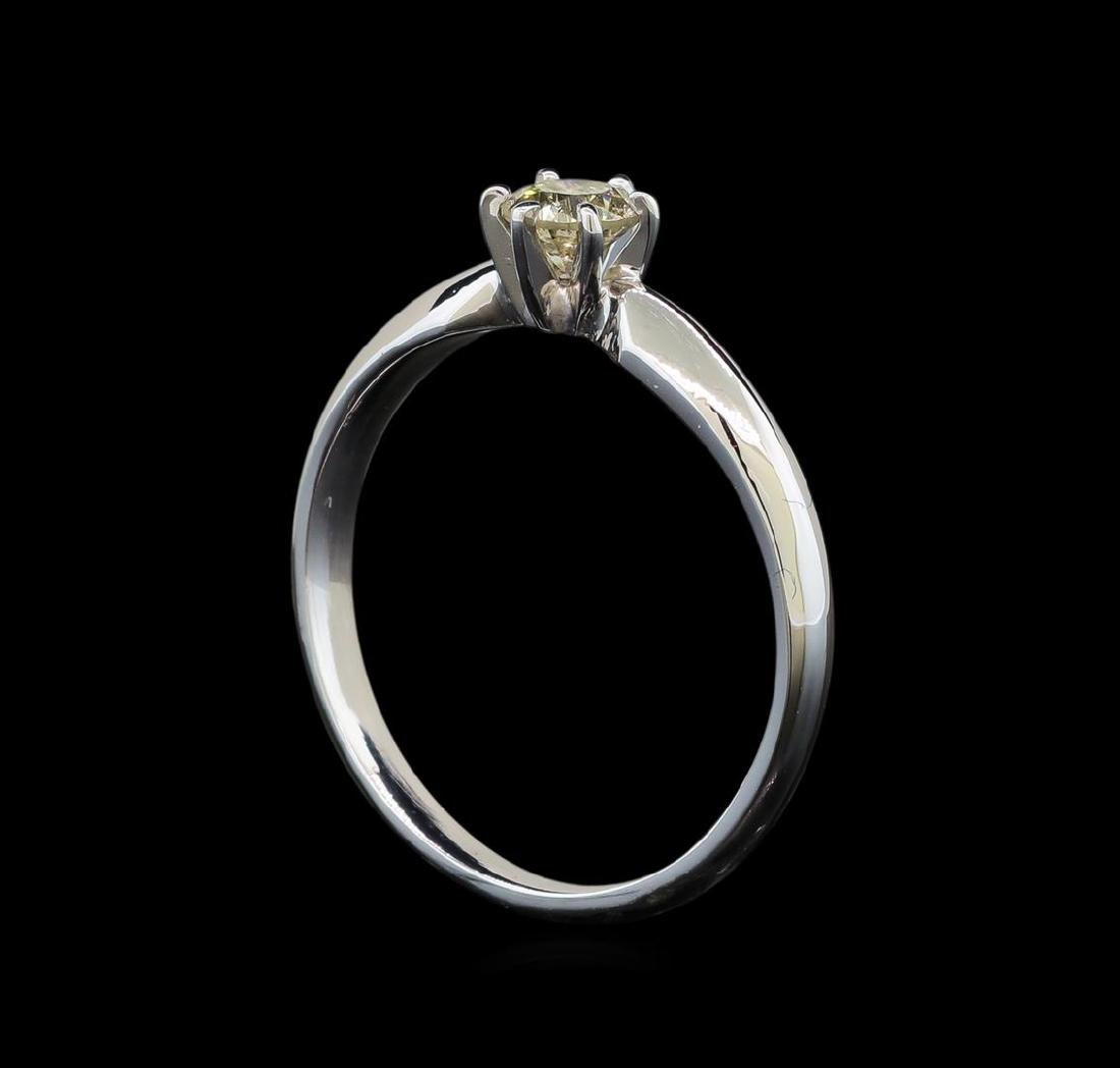 14KT White Gold 0.33 ctw Round Cut Diamond Solitaire - 4