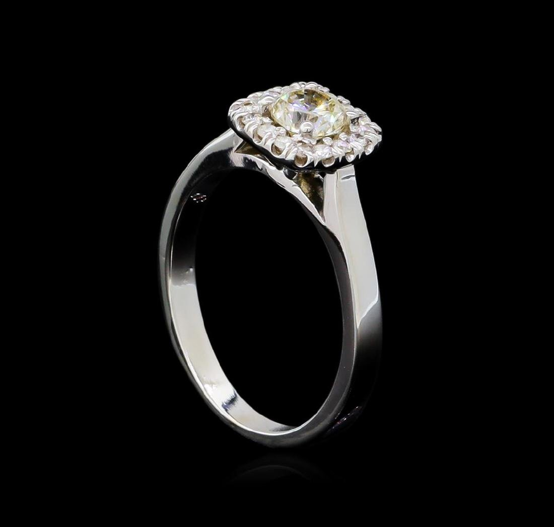 0.66 ctw Diamond Ring - 14KT White Gold - 4