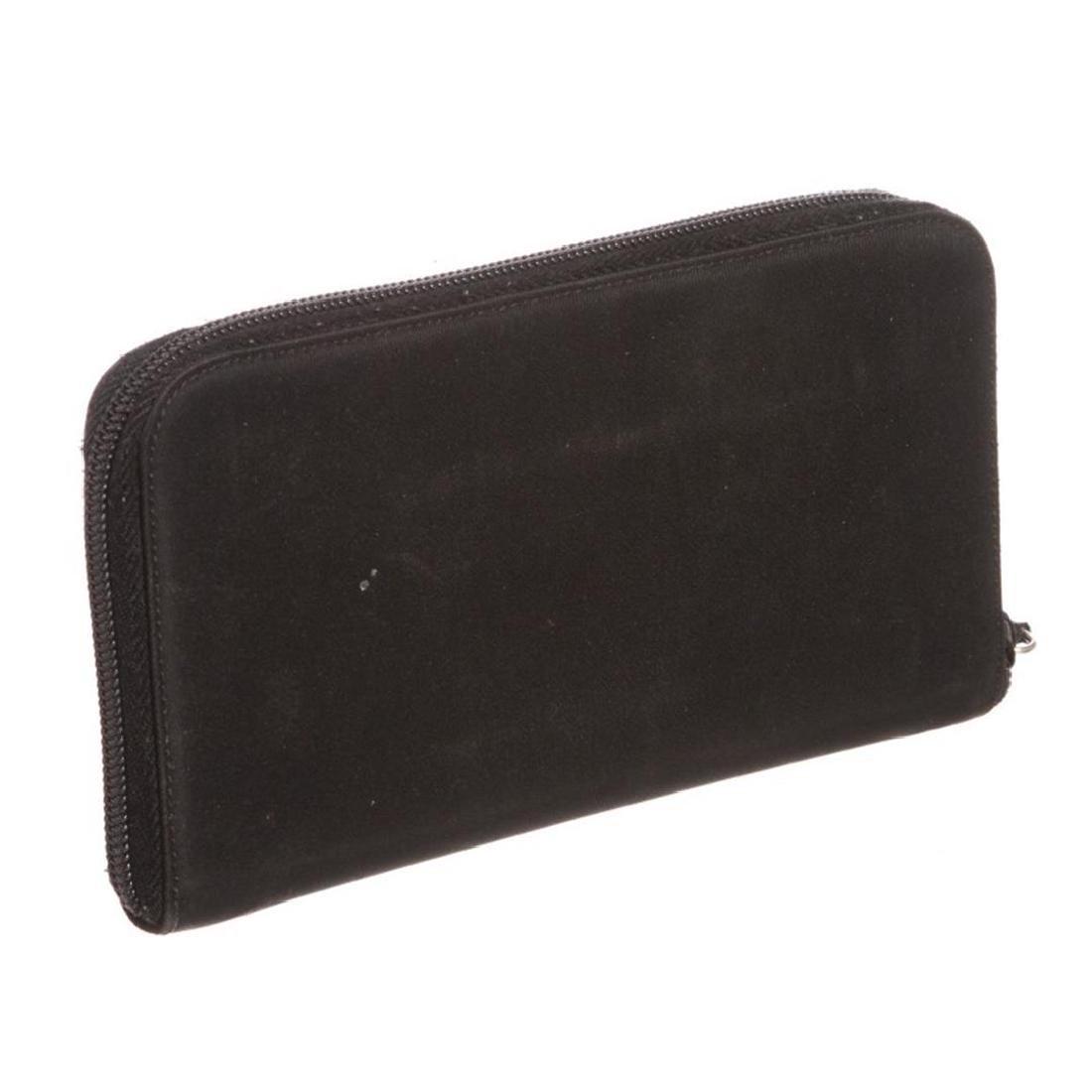Prada Black Nylon Leather Zipper Wallet - 3