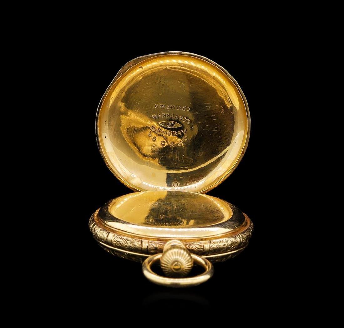 Elgin 14KT Yellow Gold Full Hunter Antique Pocket Watch - 4