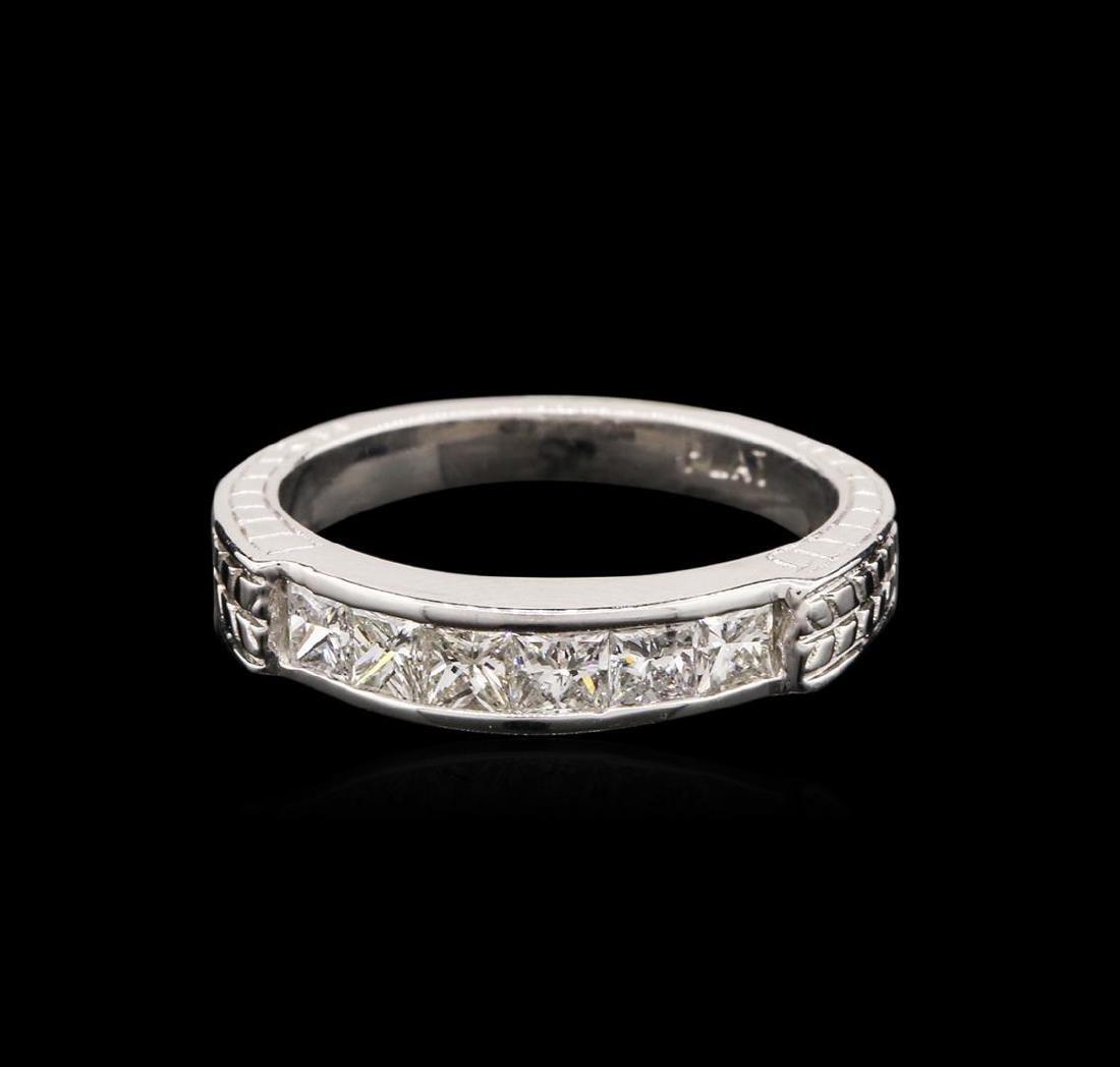 14KT White Gold 0.60 ctw Diamond Ring - 2
