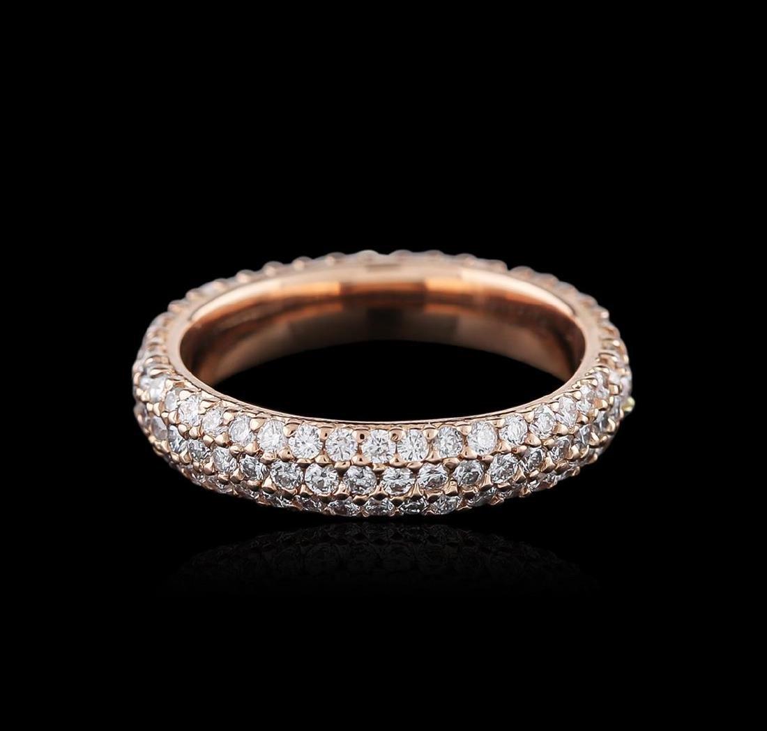 14KT Rose Gold 1.25 ctw Diamond Ring - 2
