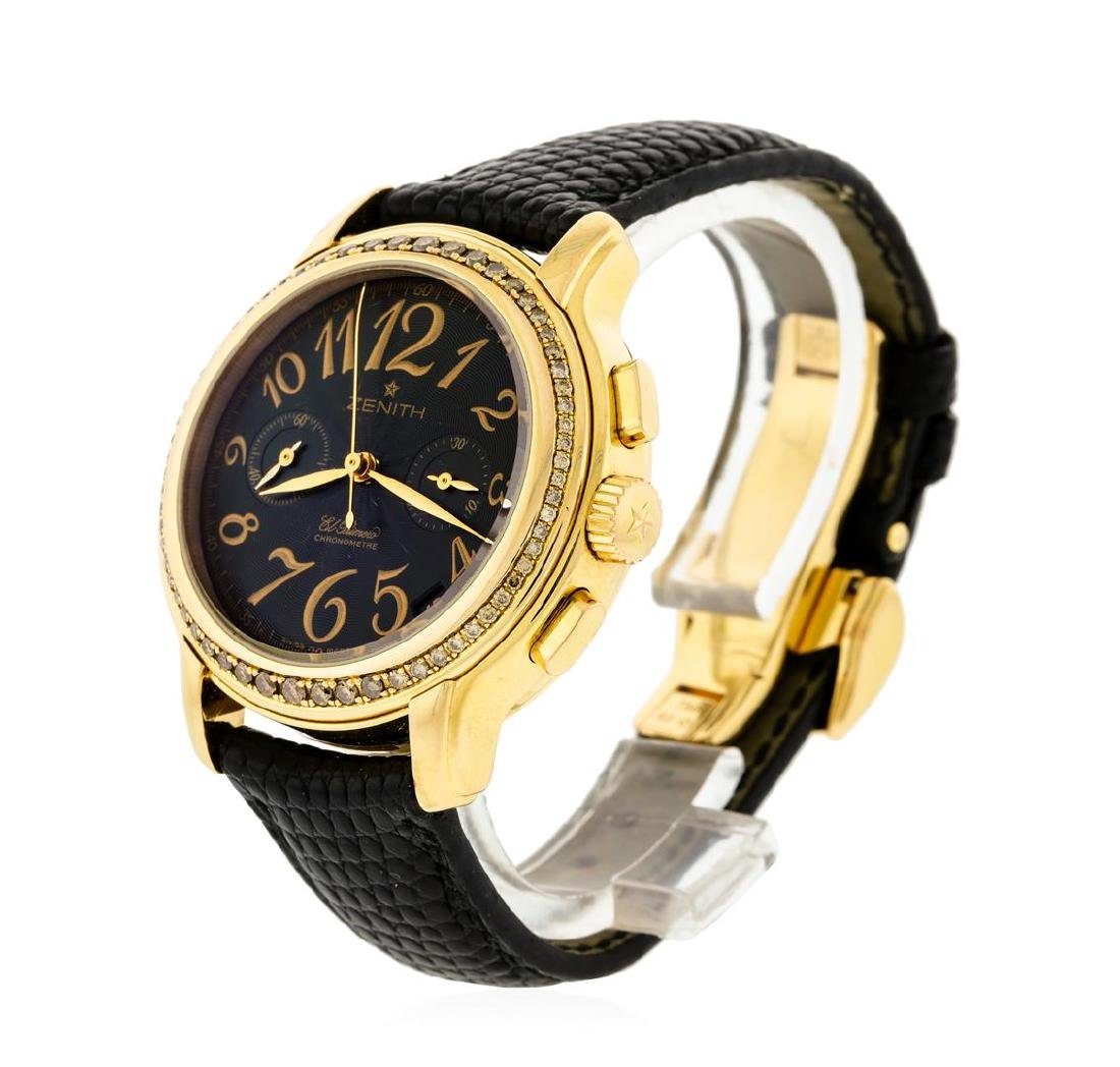 Zenith 18KT Rose Gold Diamond El Primero Watch - 2