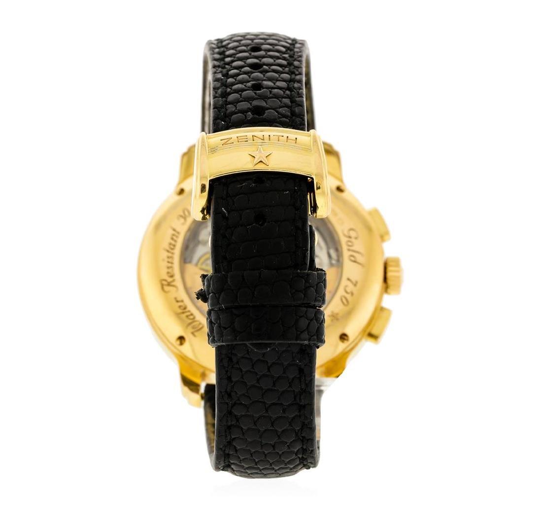 Zenith 18KT Rose Gold Diamond El Primero Watch - 3