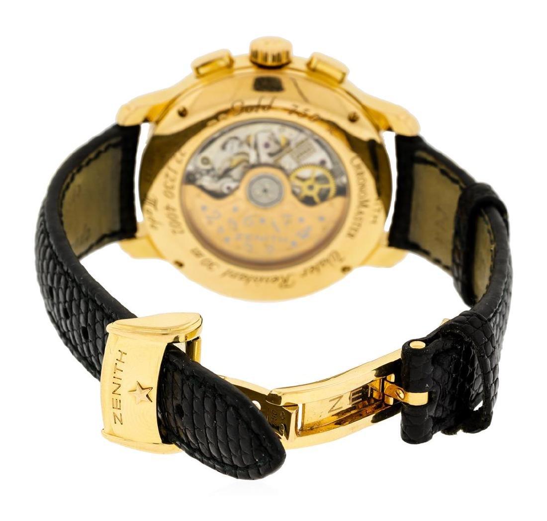 Zenith 18KT Rose Gold Diamond El Primero Watch - 4