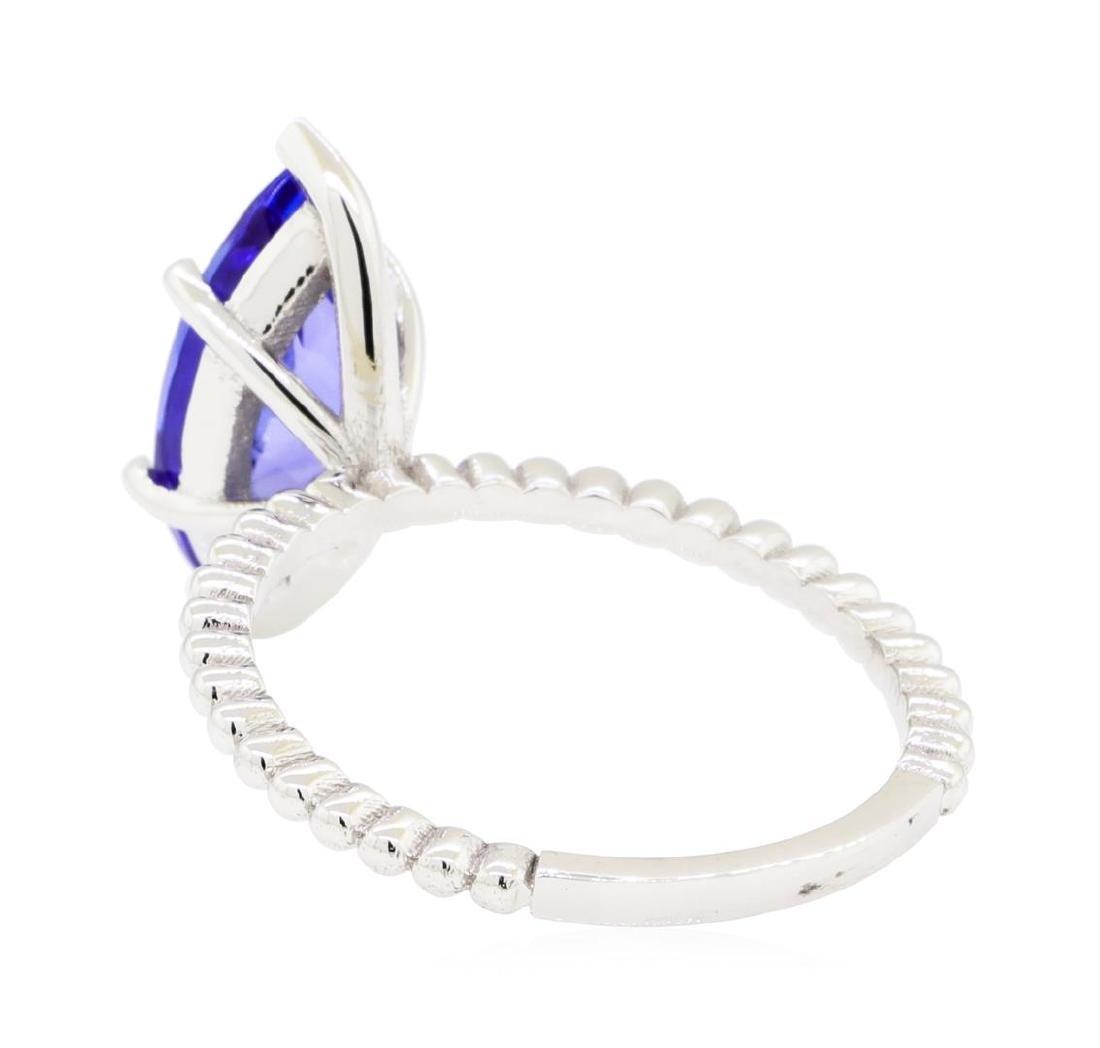 2.53 ctw Tanzanite Ring - 14KT White Gold - 3