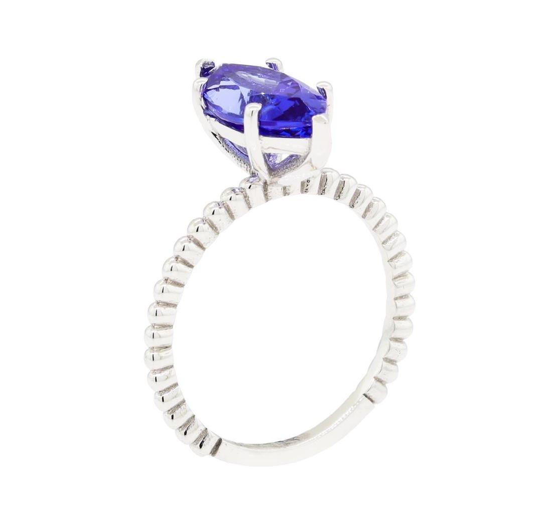 2.53 ctw Tanzanite Ring - 14KT White Gold - 4