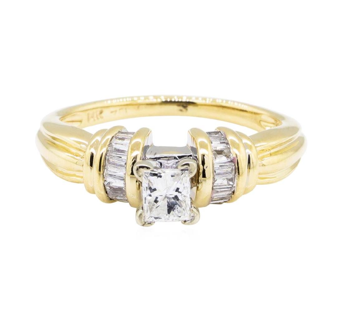 0.52 ctw Diamond Ring - 14KT Yellow Gold - 2