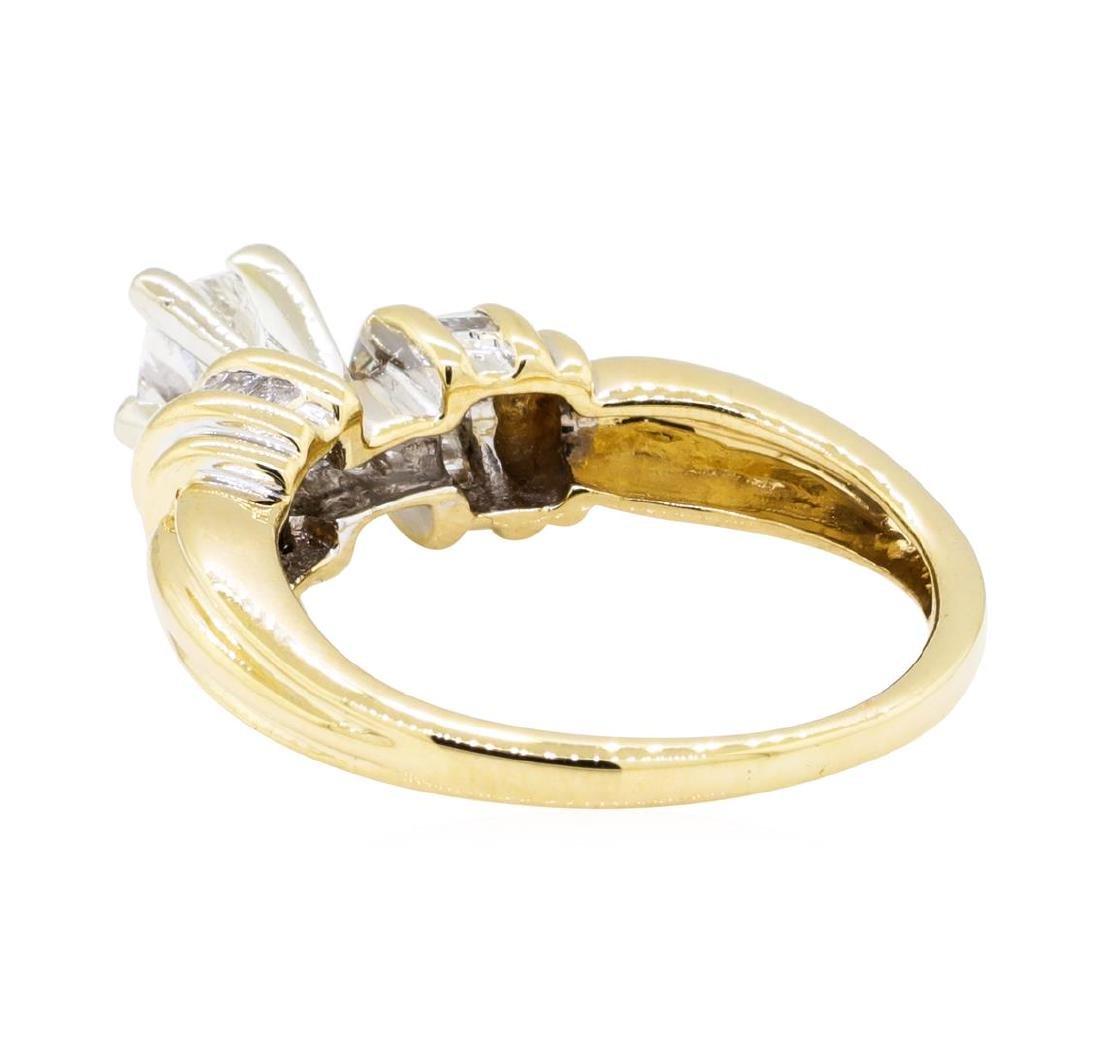 0.52 ctw Diamond Ring - 14KT Yellow Gold - 3