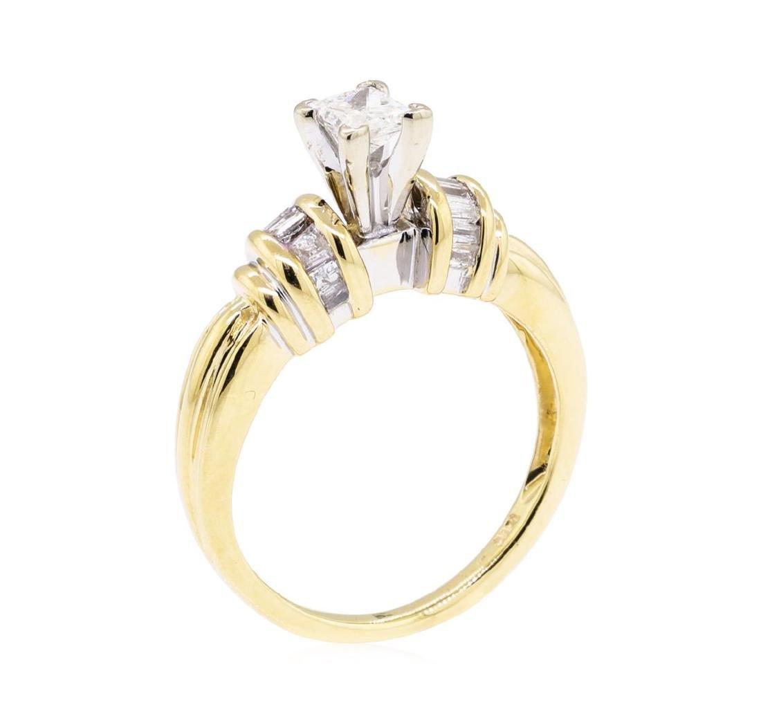 0.52 ctw Diamond Ring - 14KT Yellow Gold - 4